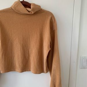 Butterscotch corduroy cropped sweater